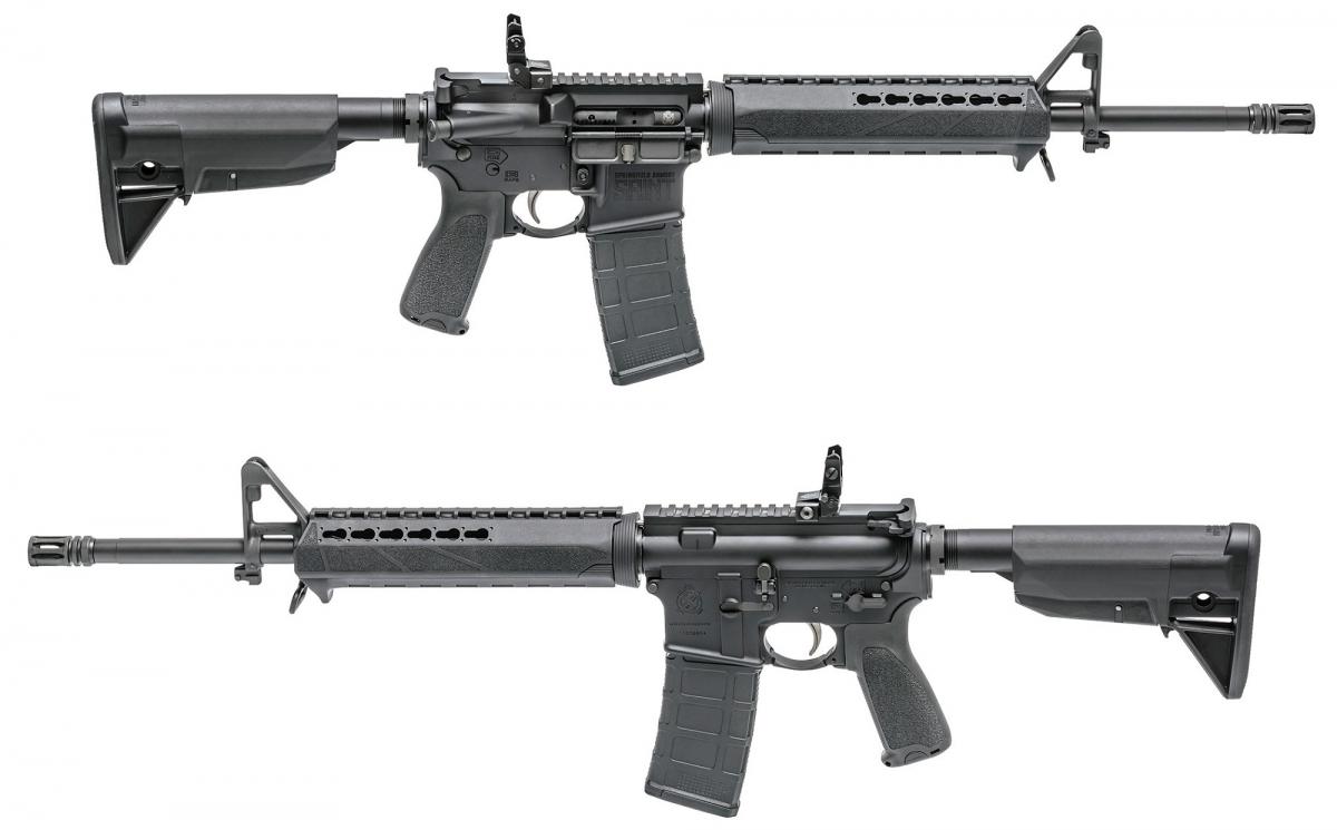 Il fucile Springfield Armory SAINT è fornito di plastiche BCM