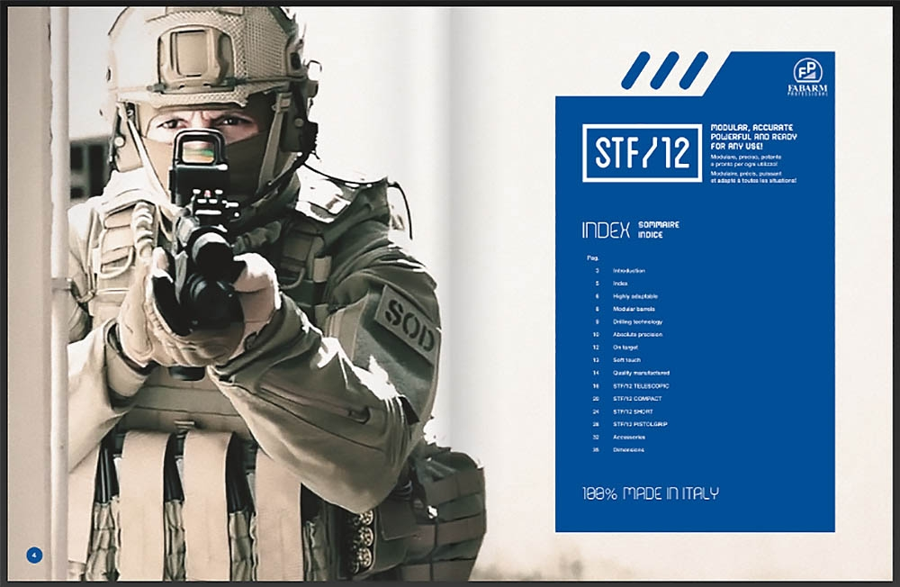 Fabarm STF/12: the all-Italian modular Combat Shotgun