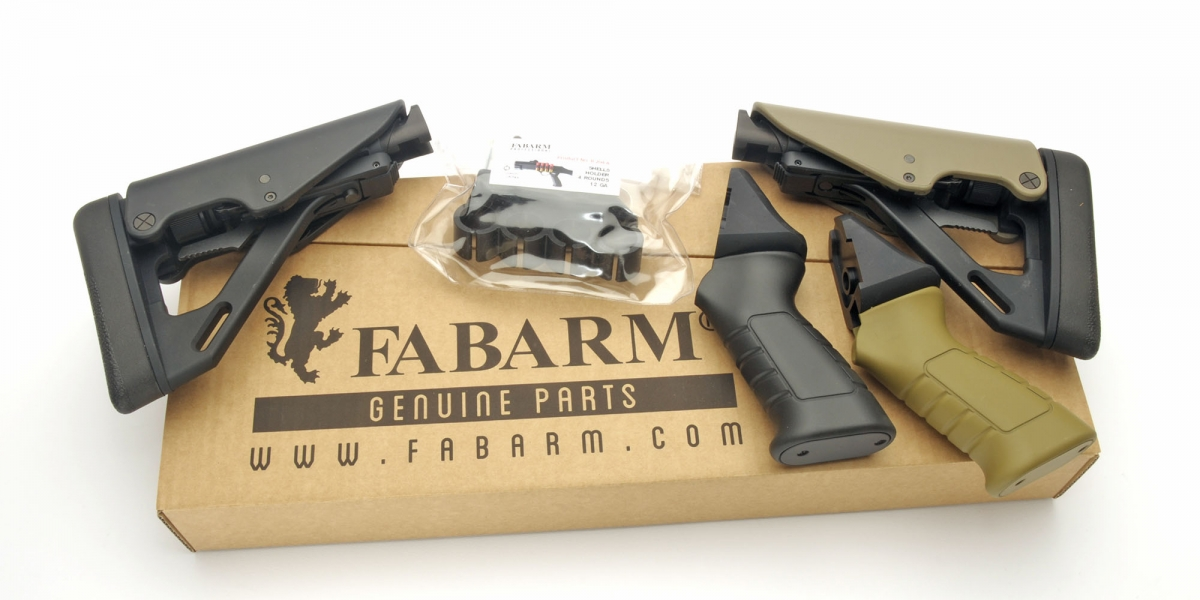 Optional stocks are available to configure the Fabarm STF/12 shotgun to match different operative needs
