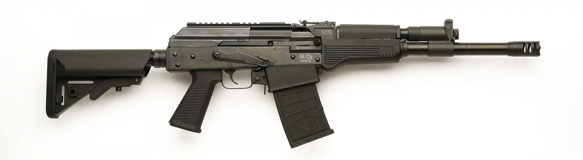 Right side view of the AK-12s Tactical shotgun