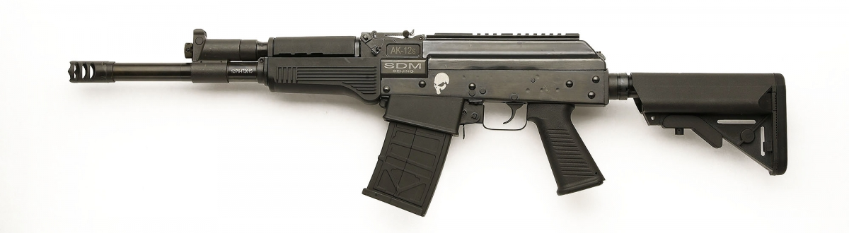 Left side view of the AK-12s Tactical shotgun