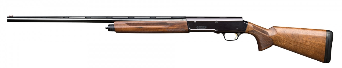 Left view of the new Browning A5 Sweet Sixteen 16 gauge hunting shotgun