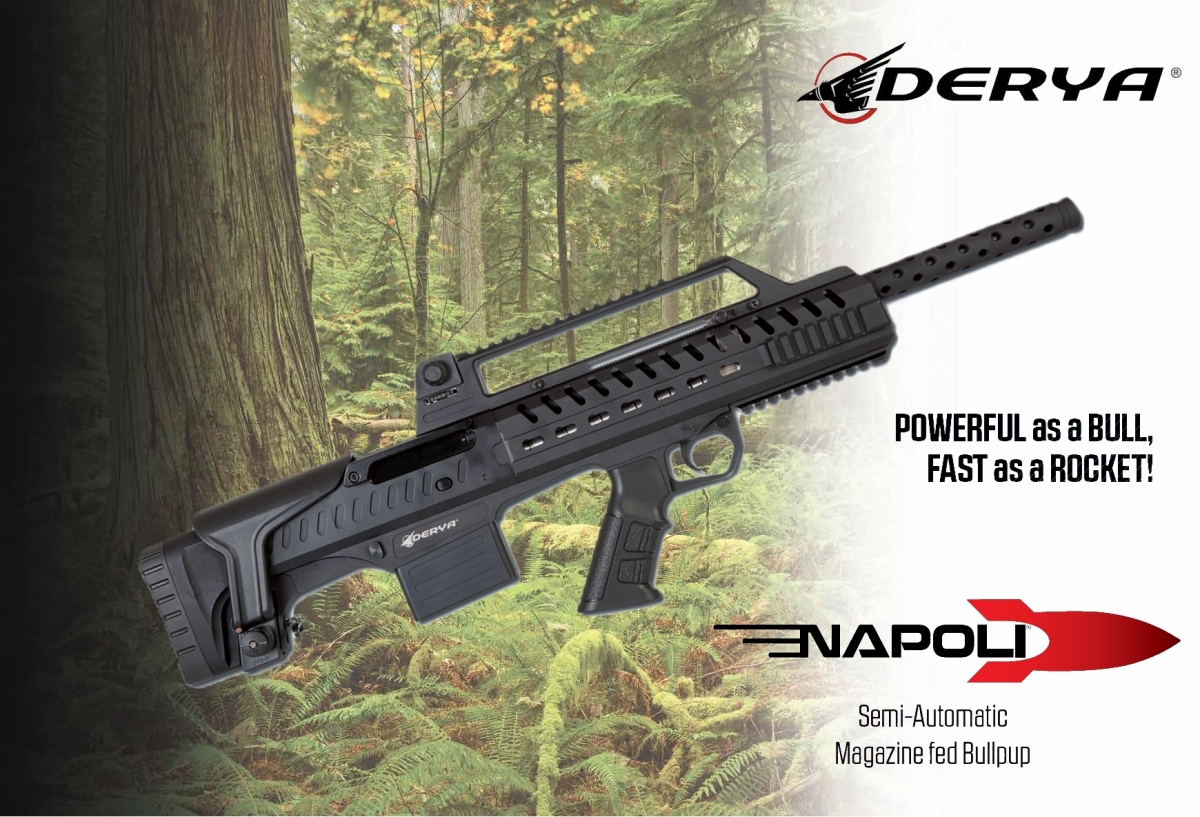 The Napoli N-100 is the new bull-pup semi-automatic shotgun from Derya Arms