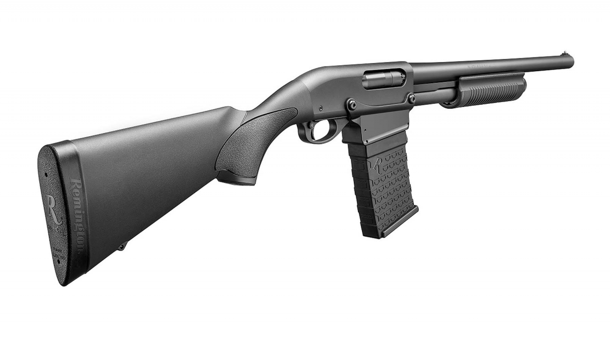 Remington introduces the 870 DM line of pump-action shotguns: the legendary Model 870 will now feed through detachable magazines!