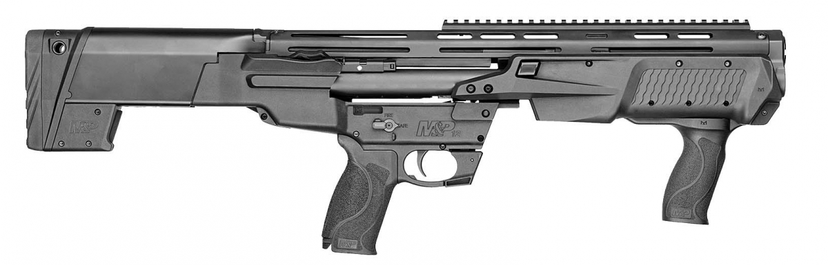 Smith & Wesson M&P 12 pump-action shotgun – right side