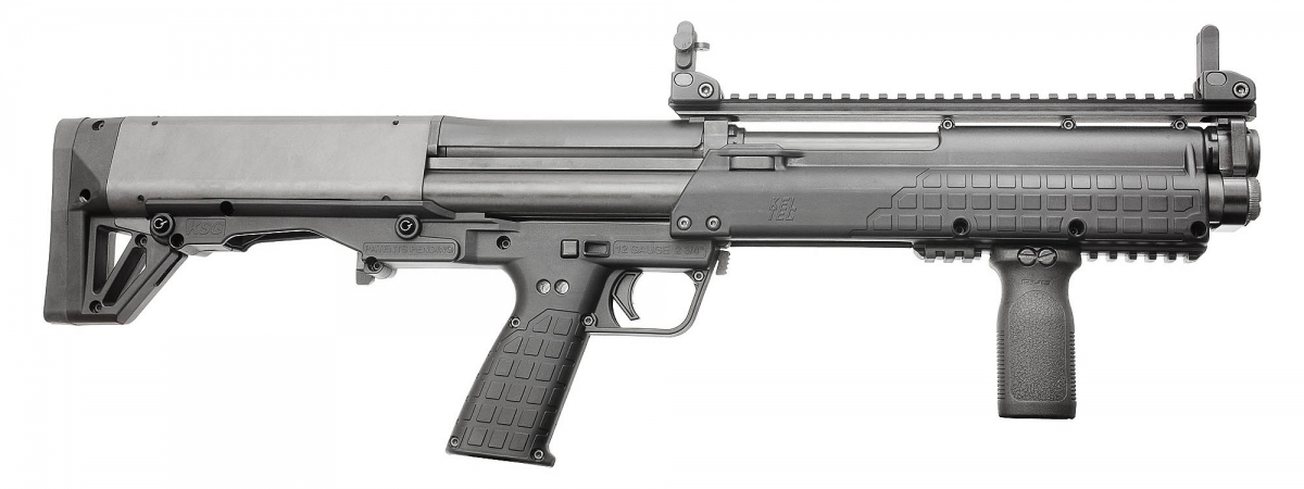 The new Kel-Tec KSG-25 is a longer barrel version of the standard Kel-Tec KSG shotgun