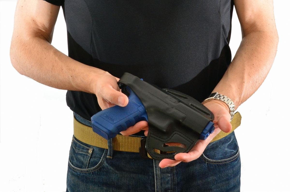 la fondina in cuoio RADAR modello 5154, è il top per comfort e possibilità di occultare l'arma. L'aderenza al corpo di questa fondina è amplificata dalla conformazione che si adatta alle forme del fianco