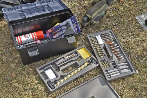 Allen Tool Box Cleaning Kit: a full set of cleaning tools contained in a handy box for your usual gun maintenance equipment