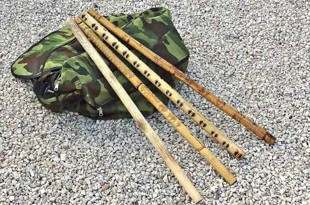 Bastoni da allenamento in Rattan, materiale vegetale che unisce leggerezza, resistenza e flessibilità