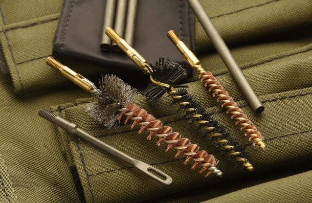 A set of brushes for AR-15 rifles