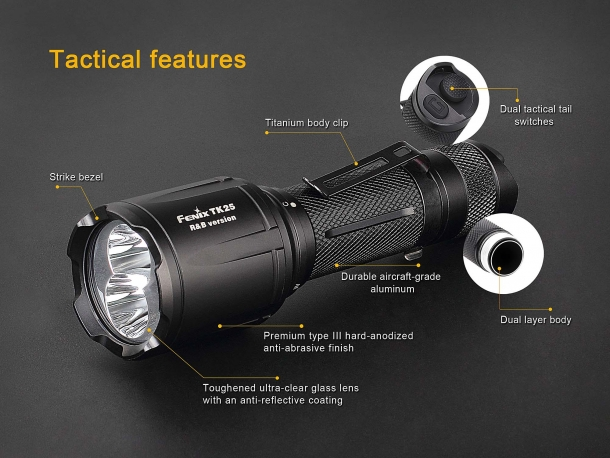 The tactical features of the Fenix TK25 R&B