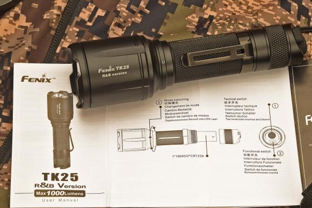 The new Fenix TK25 R&B tactical multipurpose flashlight