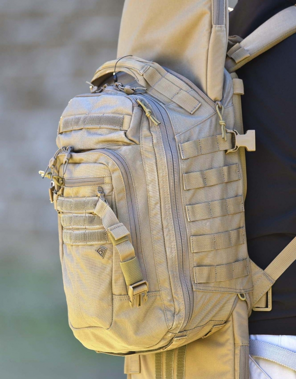 "The First Tactical TACTIX Half-Day backpack with the 36"" Rifle Sleeve in"