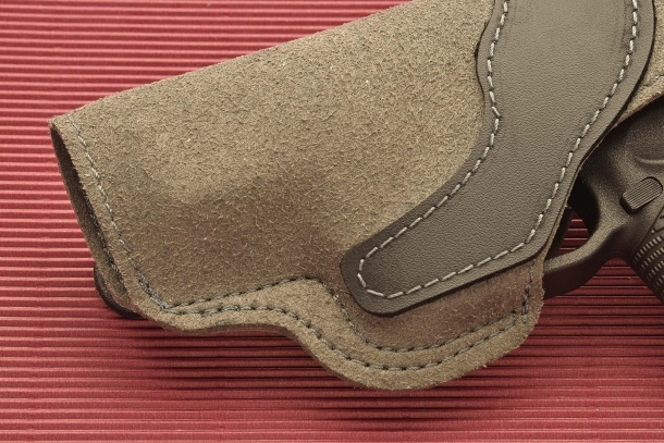 "The Radar 5074 ""Invisible"" holster is manufactured out of microfiber, and replicates the look and feel of suede"