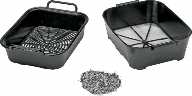 The tumbler comes with a pair of unique sifter pans which makes separating pins from the cases a breeze