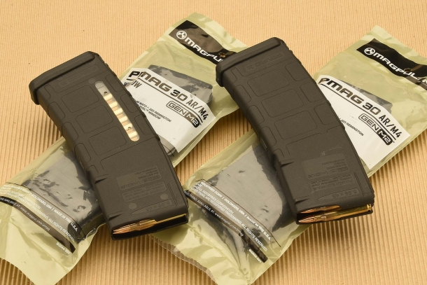 The PMAG magazines are available with or without visual check windows