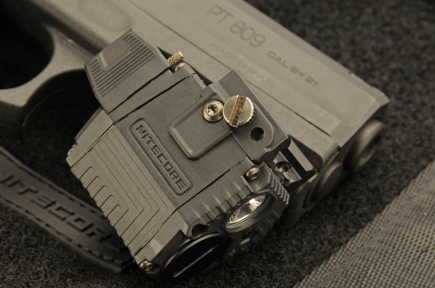 The Nitecore NPL10 attaches to any Picatinny railed frame
