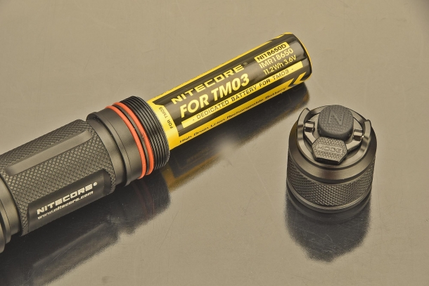 One battery for the Nitecore TM03 CRI
