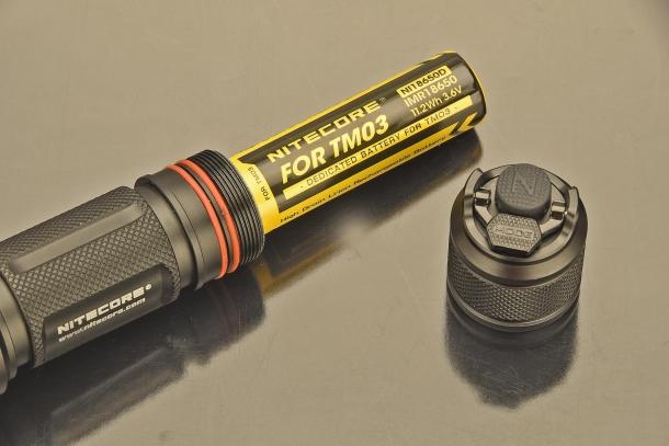 Una batteria in dotazione per la TM03 CRI