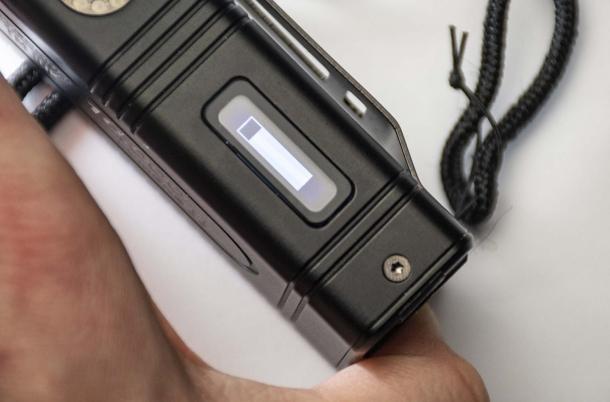 Quando è attiva la modalità Turbo da 10.000 lumen, una barra luminosa sul display visualizza i 7 secondi disponibili alla massima potenza