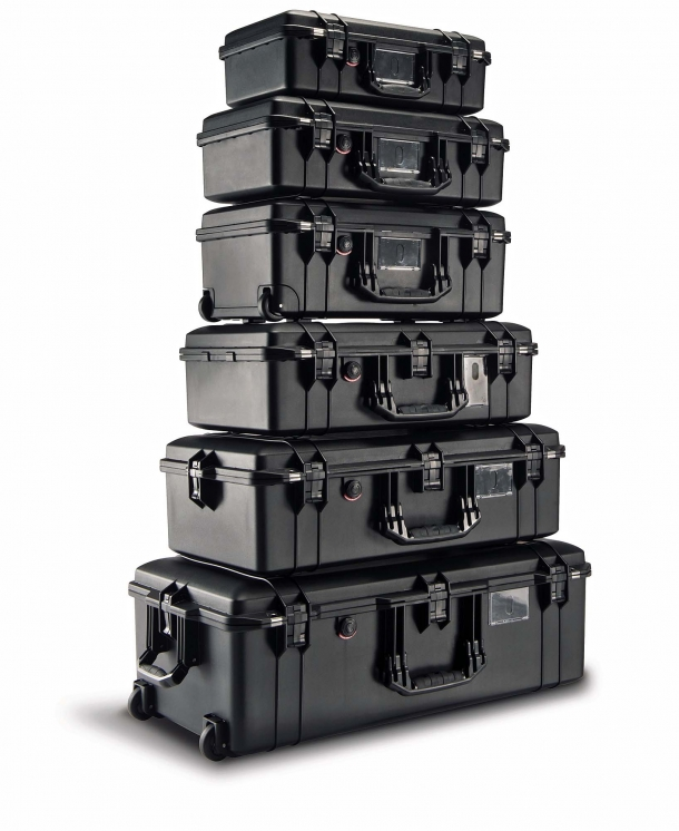 The Peli Air cases are manufactured out of lightweight HPX2 resin