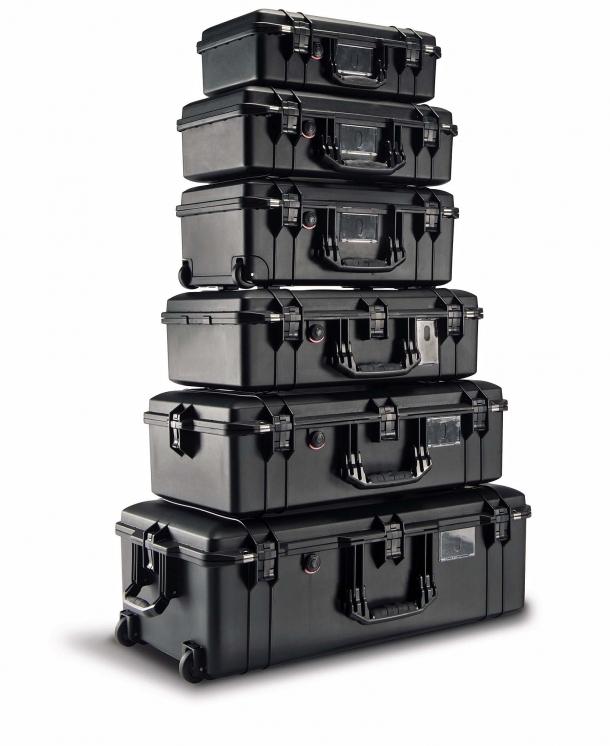 Le valigie Peli Air sono realizzate in resina HPX2
