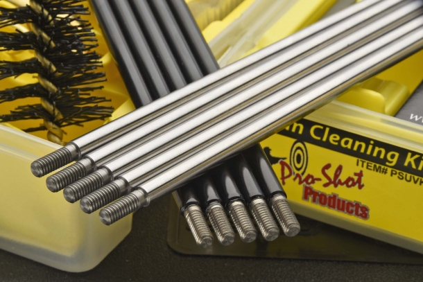 The rods are available in polished steel or coated