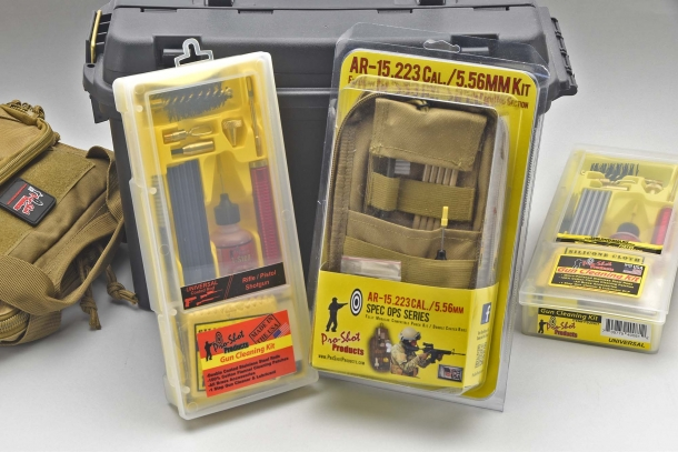"The standard Pro-Shot Products kits come boxed, but there are also some ""tactical pouche"" variants available"