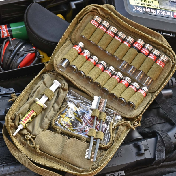 "The new tactical soft case Pro-Shot Super Kit .22 caliber to 12 gauge well represents the Pro-Shot Products ""field kit"" philosophy"