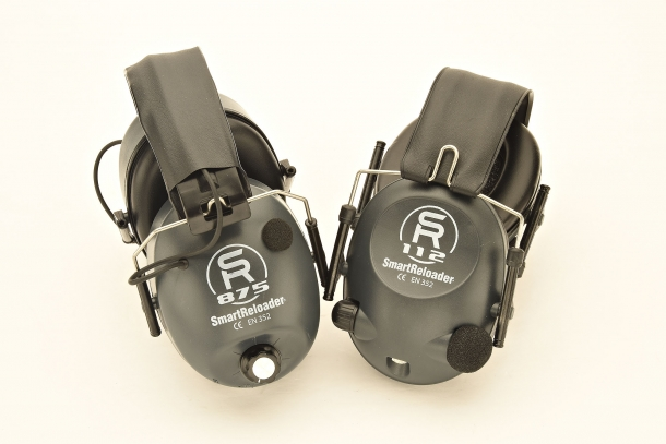 From left: the SmartReloader SR875 and the SR112 earmuffs