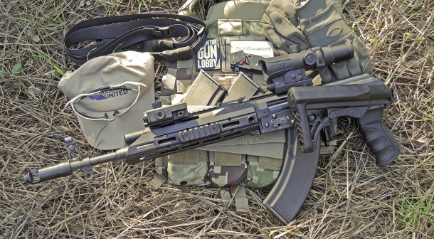 The SAG AK Chassis MK2 installed on a Chinese-made SDM AK-103s