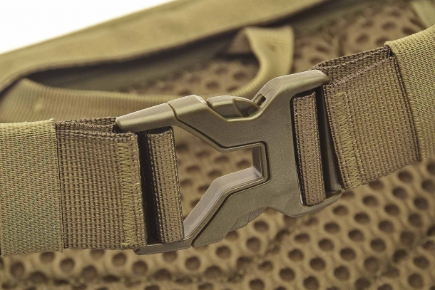 Detail of the belt buckle