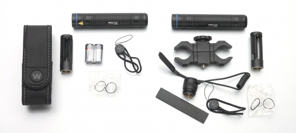 The different issued accessories sets for the PL60 and PL60RS
