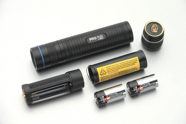 The Walther Pro PL60 flashlight can use a single ICR18650 lithium-ion battery...