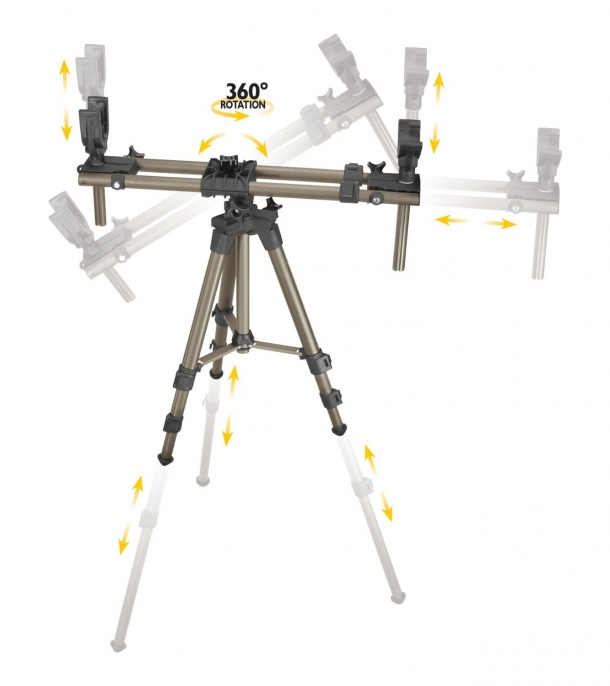 The Caldwell DeadShot Fieldpod Magnum model can be adjusted on a 360° level, and is probably the most versatile entry in the line