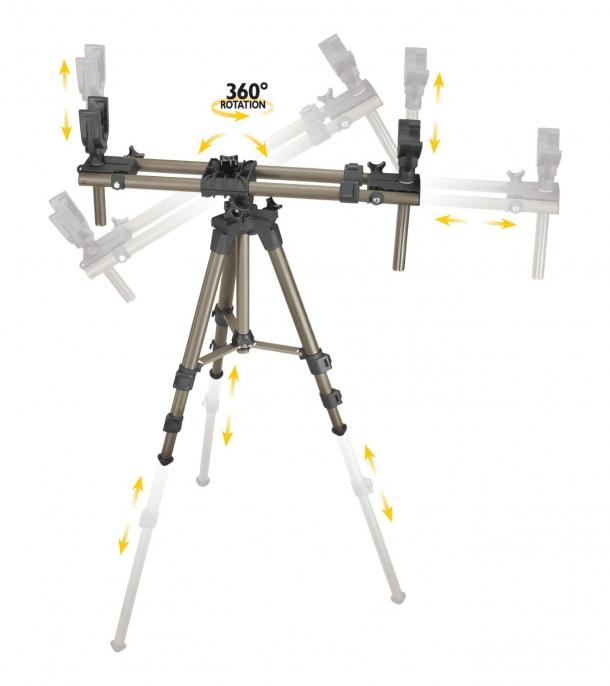Il DeadShot Fieldpod Magnum è completamente regolabile sui 360°, ed è sicuramente il modello più versatile della gamma
