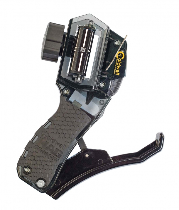 Caldwell's Mag Charger Universal Pistol Loader makes it twice as fast and easy to fill up a handgun magazine