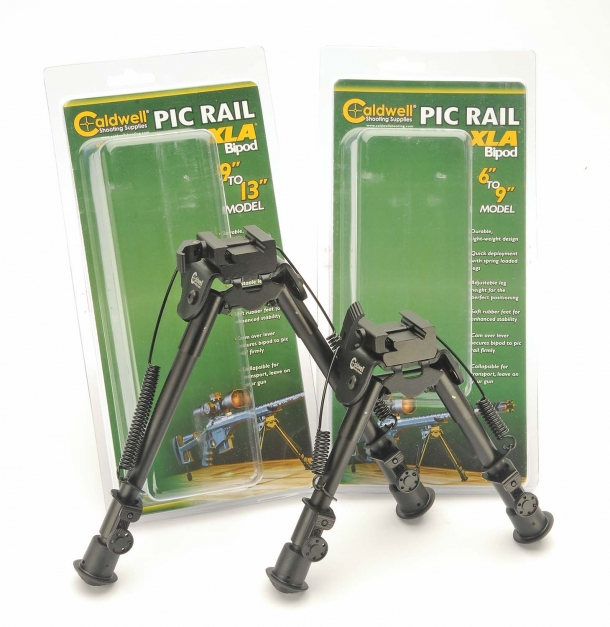 "The Caldwell Pic Rail XLA bipods come in two sizes: 9""-13"" or 6""-9"""