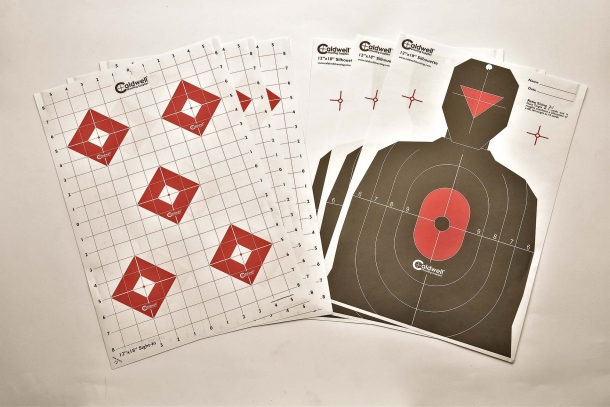 "Caldwell's Ultra Portable Target Stand Kit is issued with eight 12""x18"" targets"