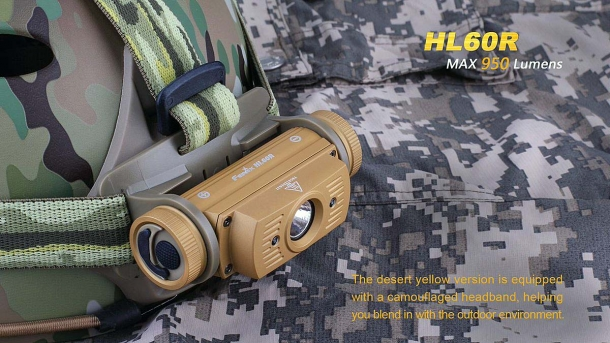 The HL60R headlamp is now also available in a camo variant