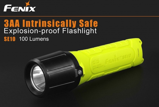 A very special flashlight: the SE10 has been engineered to be safe to use in environments where a substantial explosion hazard exists
