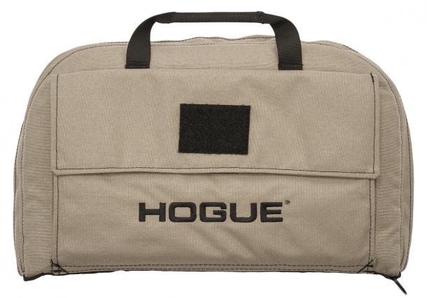 La nuova 'Large Pistol bag' color sabbia della Hogue, con velcro frontale per l'aggiunta di accessori