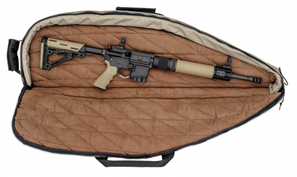 Le custodie singole e doppie per armi lunghe della Hogue sono disponibili anche in versione extra-large per armi da tiro a lunga distanza