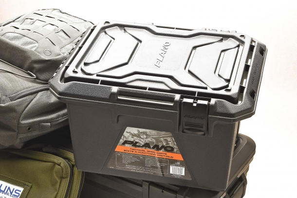 Plano Tactical Ammo Crate: it offers heavy-duty construction and is stackable