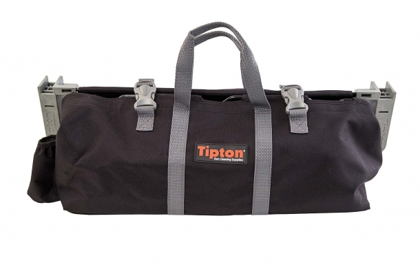 The Tipton Transporter Range Vise can be folded into a practical range bag