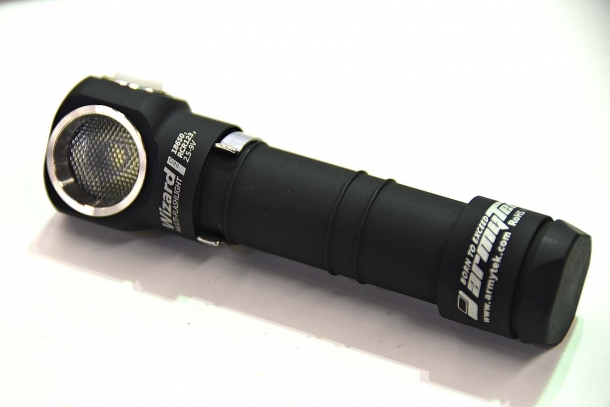 The ArmyTek Wizard Pro flashlight is drop resistant to 10 meters