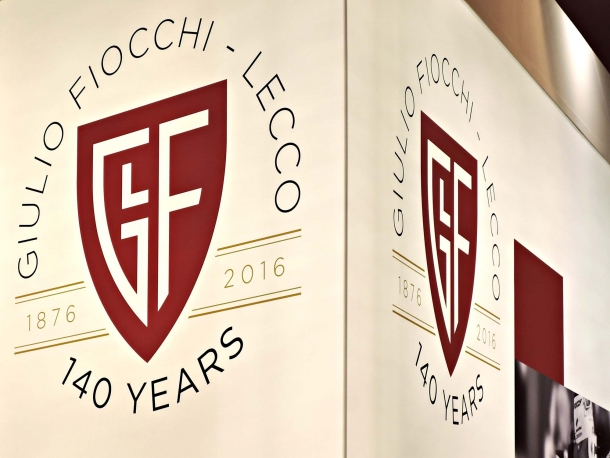 The new Fiocchi 140 years logo presented at Fiera Vicenza HIT Show 2016