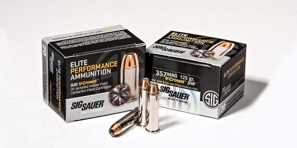Munizioni SIG Sauer Elite Performance calibro .357 Magnum con palle da 125 grani