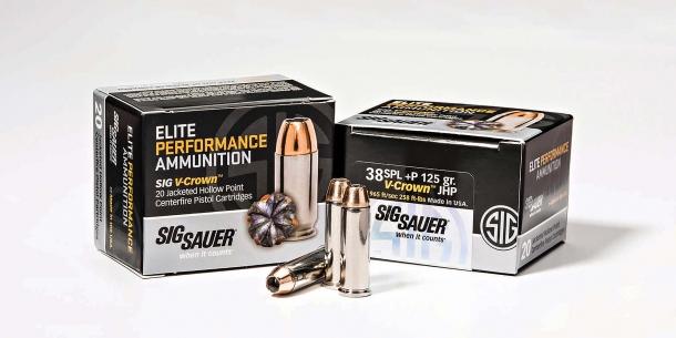 Munizioni da revolver SIG Sauer Elite Performance .38 Special +P con palla da 125 grani