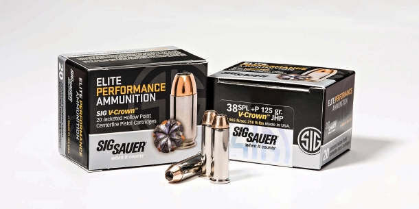 SIG Sauer Elite Performance 125gr .38 Special P revolver ammunition